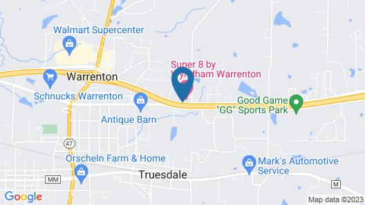 Super 8 by Wyndham Warrenton Map