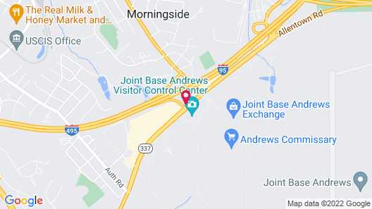 Quality Inn Near Joint Base Andrews-Washington Area Map