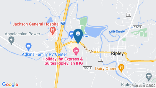 Holiday Inn Express Hotel & Suites RIPLEY Map