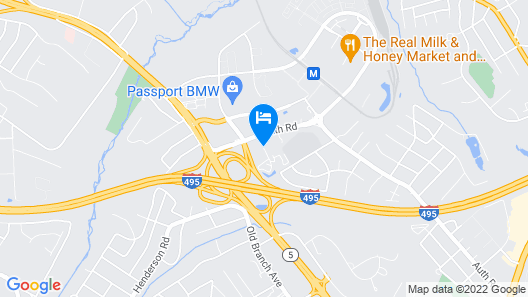 Holiday Inn Express Washington DC East - Andrews AFB Map