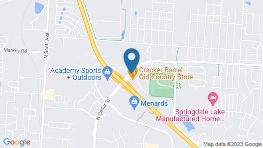 Hampton Inn Belton/Kansas City area Map