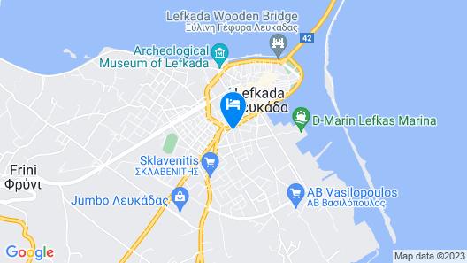 Lefkada Center Apartments Map