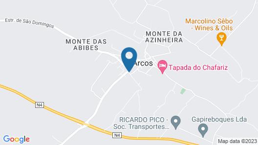 Monte da Rosada Map
