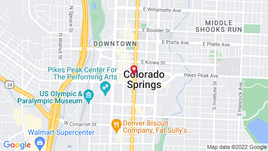 The Mining Exchange, A Wyndham Grand Hotel & Spa Map