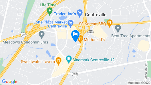 Extended Stay America Suites Washington DC Centreville Manas Map