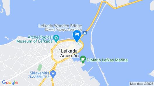 Hotel Lefkas Map