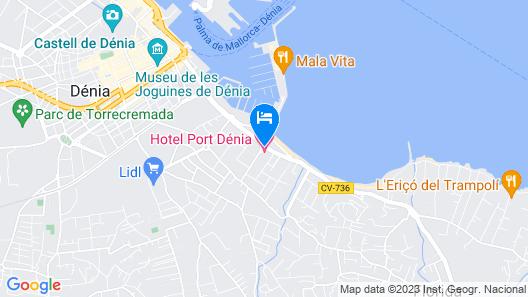 Port Denia Hotel Map