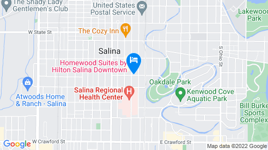 Homewood Suites by Hilton Salina Downtown Map