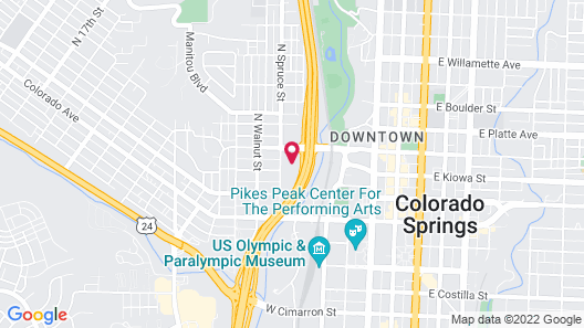 Holiday Inn Express Hotel & Suites Colorado Springs Central, an IHG Hotel Map