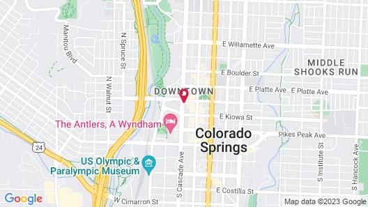 Hilton Garden Inn Colorado Springs Downtown Map
