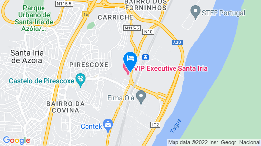 VIP Executive Santa Iria Hotel Map