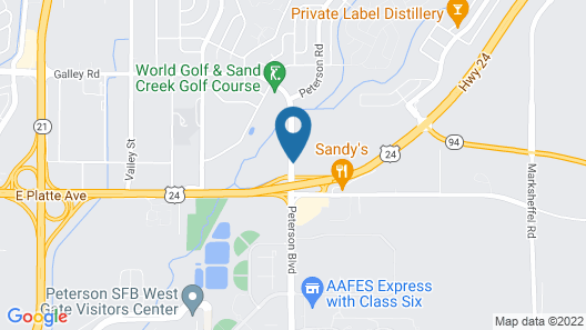 Super 8 by Wyndham Cos/Hwy. 24 E/PAFB Area Map