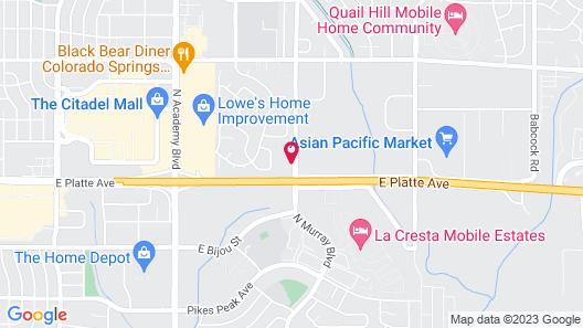 Rodeway Inn Central Colorado Springs Map