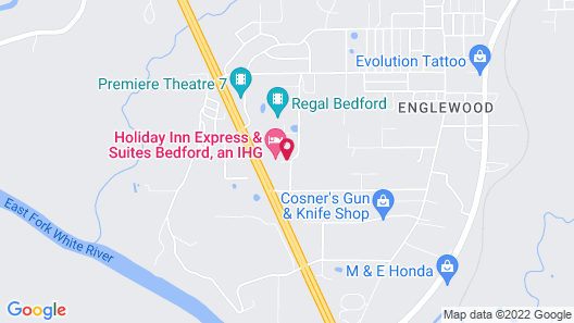 Holiday Inn Express Hotel & Suites Bedford, an IHG Hotel Map
