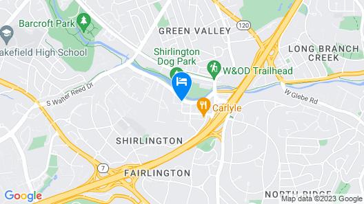 Hilton Garden Inn Arlington-Shirlington Map