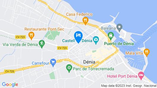 Hotel Adsubia Map