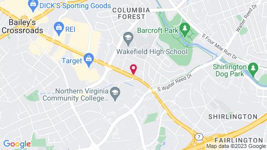 Hampton Inn Alexandria/Pentagon South Map