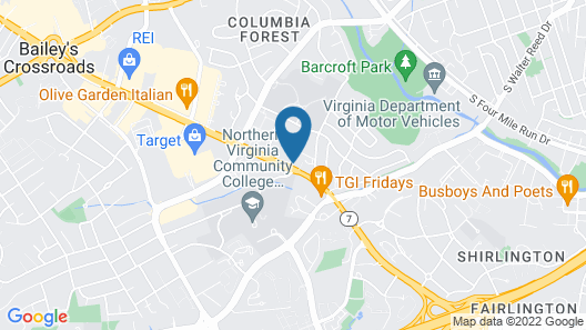 Hampton Inn Alexandria/Pentagon South Map