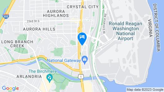 Courtyard by Marriott Arlington Crystal City/Reagan National Map