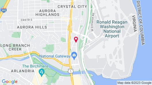 Renaissance Arlington Capital View Hotel Map