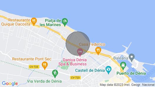Pequeño Chalet a 50 m de la Playa. Amplia Terraza.a/a, Wifi Map