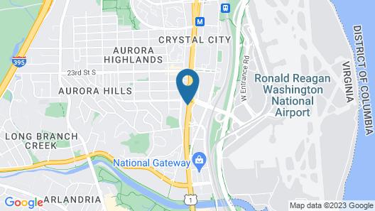 Holiday Inn National Airport/Crystal City, an IHG Hotel Map