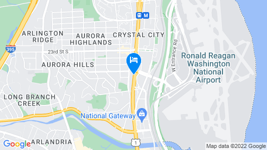 Holiday Inn National Airport/Crystal City, an IHG Hotel Map