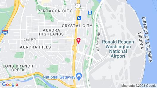 Hilton Crystal City at Washington Reagan National Airport Map