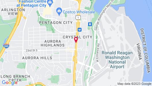 Hilton Garden Inn Reagan National Airport Map