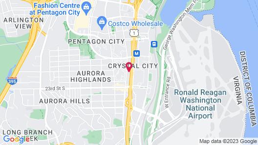 Hampton Inn & Suites Reagan National Airport - Crystal City Map