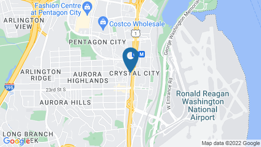 Hampton Inn & Suites Reagan National Airport - Crystal City Map