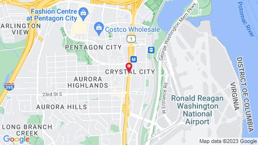 The Westin Crystal City Reagan National Airport Map
