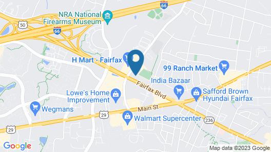 Comfort Inn University Center Map
