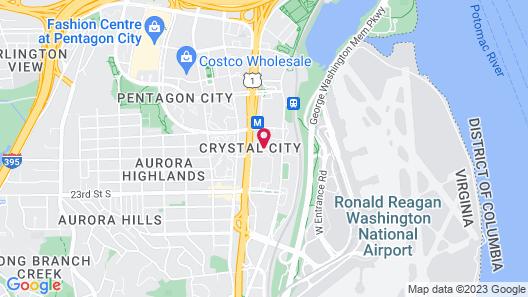 Crystal City Marriott at Reagan National Airport Map