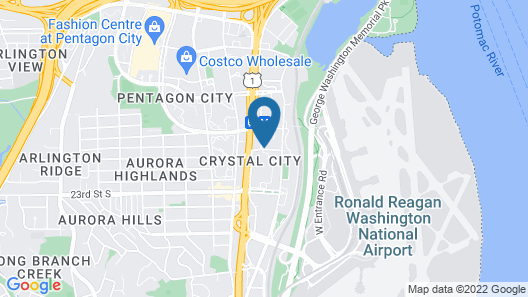 Crystal City Marriott at Reagan National Airport Map