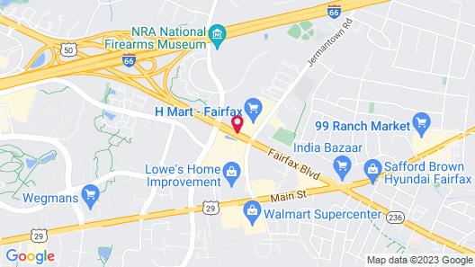 Courtyard Fairfax Fair Oaks Map