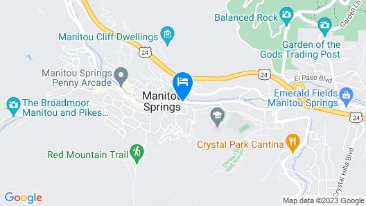 Villa Motel at Manitou Springs Map