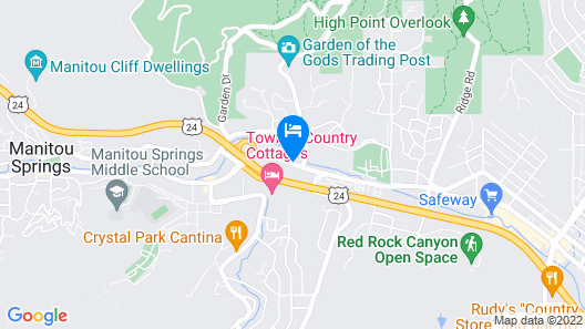 Days Inn by Wyndham Manitou Springs Map