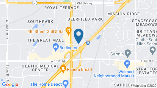 Best Western Plus Olathe Hotel Map
