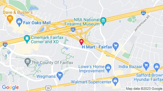 Candlewood Suites Washington-Fairfax, an IHG Hotel Map