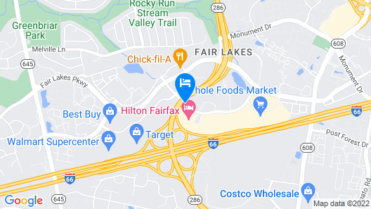 Hyatt Regency Fairfax Map