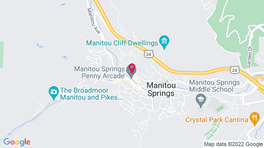Cliff House at Pikes Peak Map