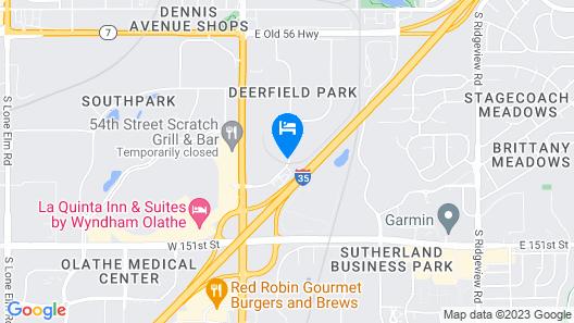 Motel 6 Olathe, KS Map
