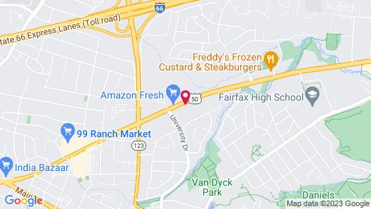 Holiday Inn Express Fairfax - Arlington Boulevard, an IHG Hotel Map