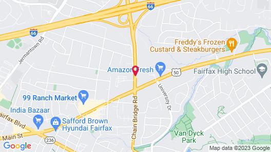 Residence Inn Fairfax City Map