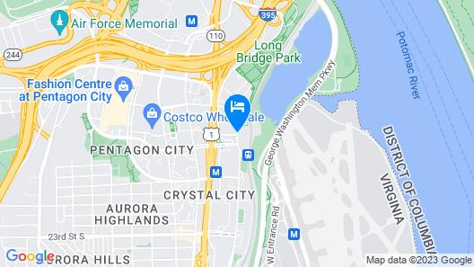 Crowne Plaza Crystal City-Washington, D.C., an IHG Hotel Map