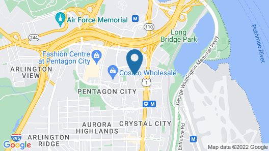 Embassy Suites by Hilton Crystal City National Airport Map