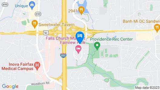 Falls Church Marriott Fairview Park Map