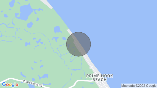 beachfront on the Delaware Bay- beautiful Prime Hook Beach Map