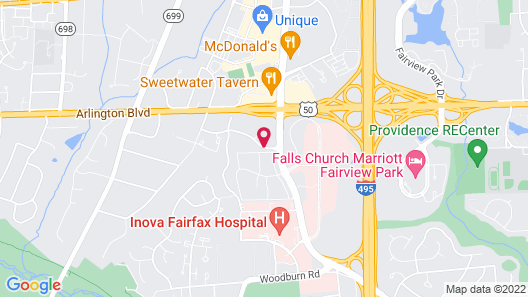 Extended Stay America -Washington DC-Falls Church-Merrifield Map